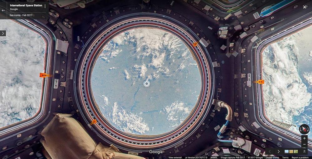 Wnętrze ISS w Google Street View