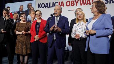 Wieczór wyborczy Koalicji Obywatelskiej