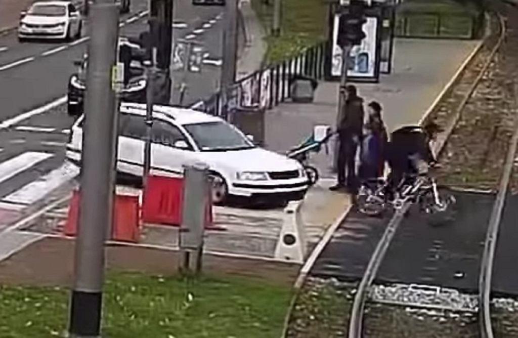 Kierowca auta potrącił rowerzystę