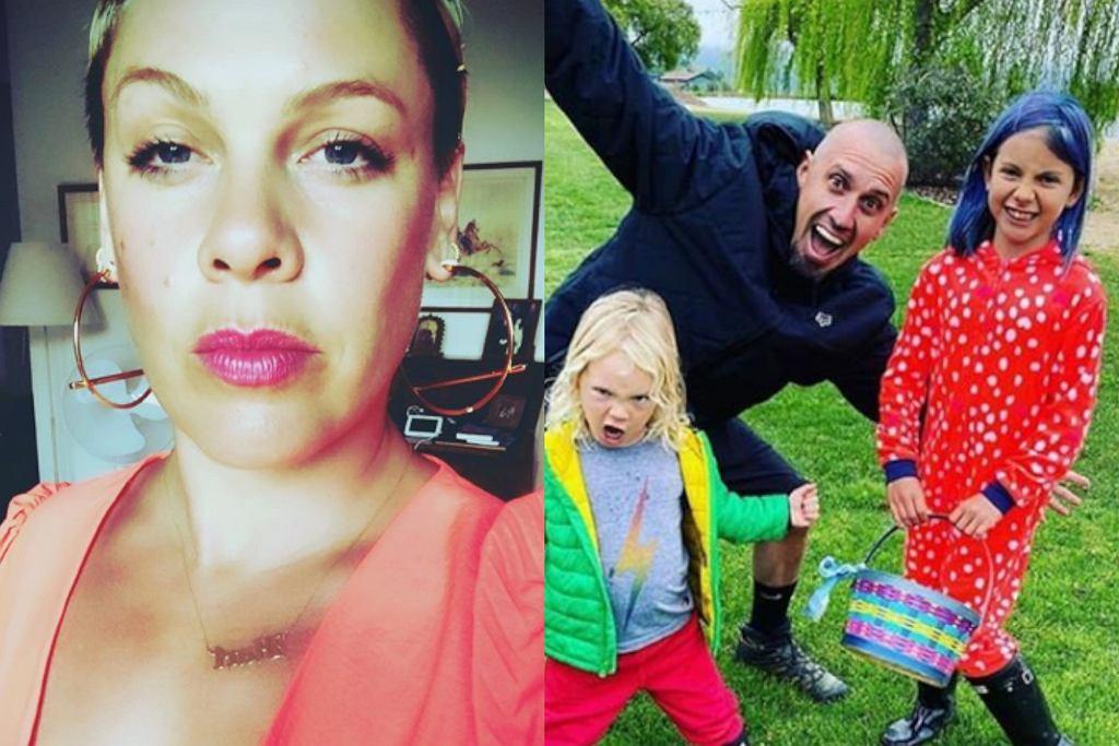 Pink, Carey Hart z dziećmi
