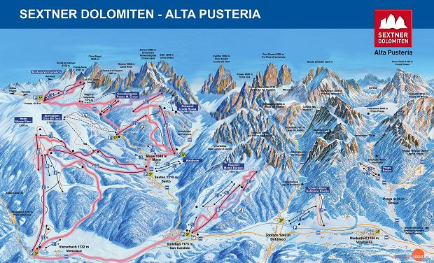 Mapa tras Alta Pusteria