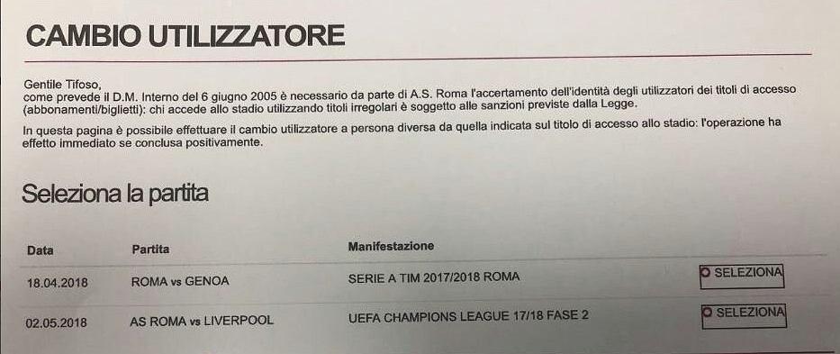 Roma sprzedaje bilety na mecz z Liverpoolem