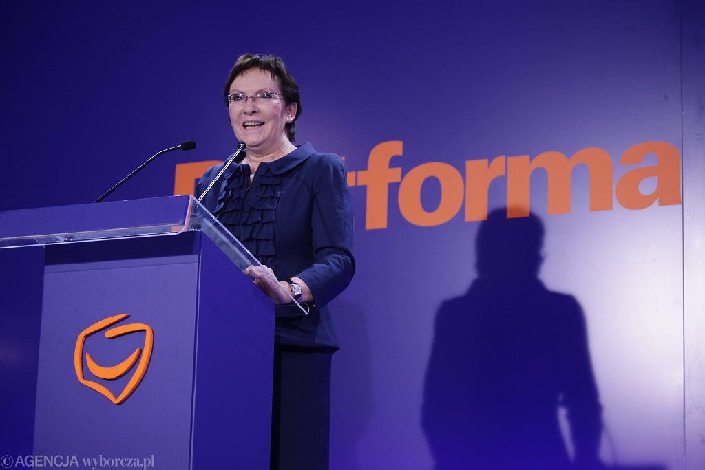 Premier Ewa Kopacz przemawia po ogłoszeniu wyników wyborów samorządowych