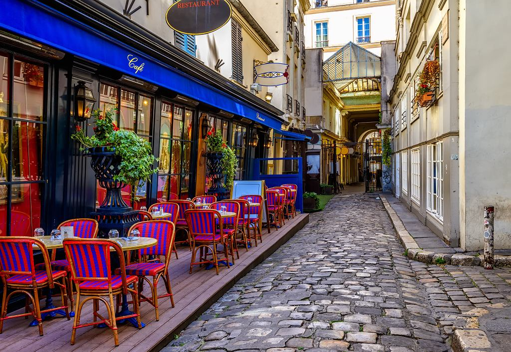 ;Typical,View,Of,The,Parisian,Street,With,Tables,With,Tables