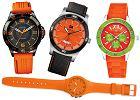 Styl: pomarańczowe zegarki
