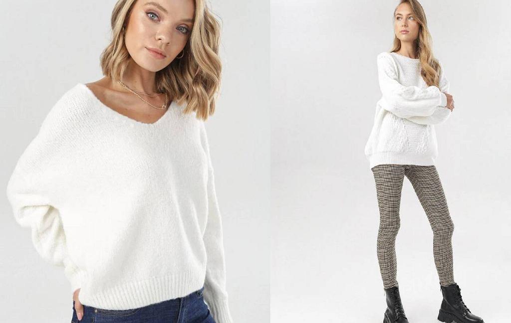 Białe swetry