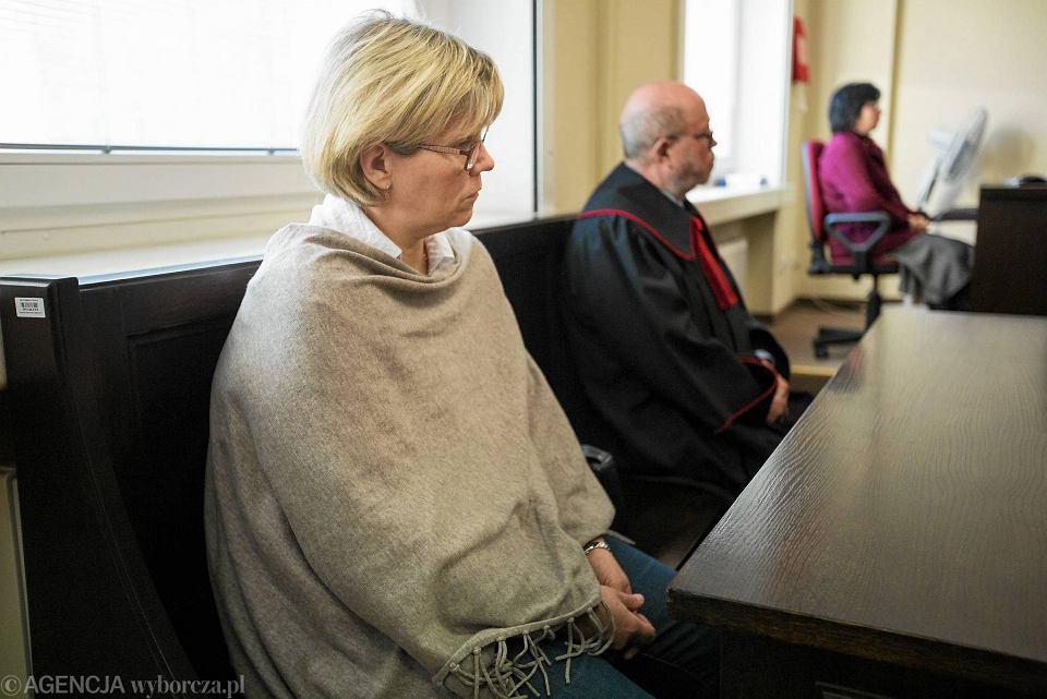 Ogłoszenie wyroku w sprawie śmierci Karoliny Maślanki i jej dzieci. Wanda Maślanka i prokurator Marek Kasprzak