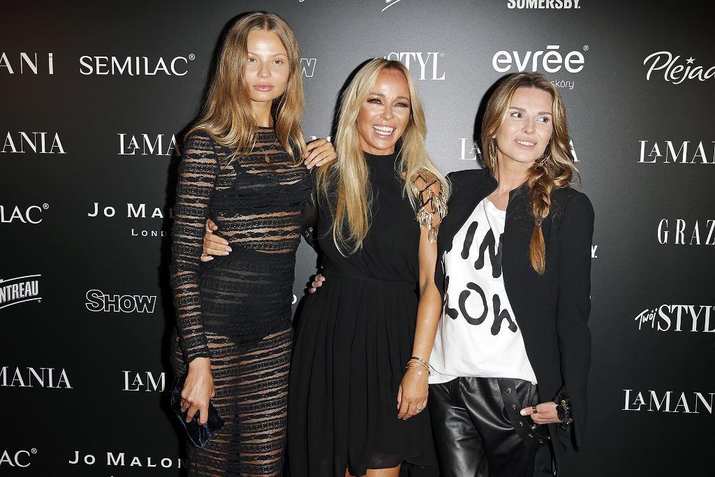 Kino letnie La Mania - Magdalena Frąckowiak, Joanna Przetakiewicz i Hanna Lis