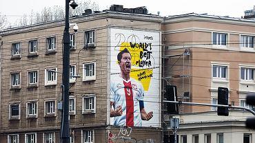 Mural Roberta Lewandowskiego w Warszawie
