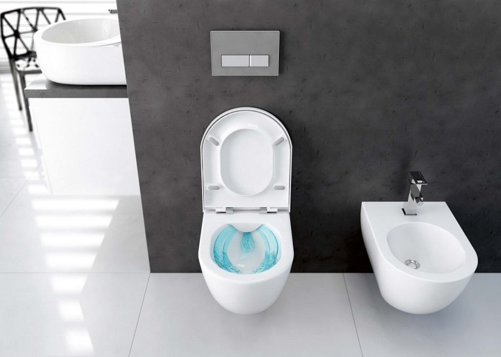PEONIA, toaleta bezkołnierzowa, podwieszana, ceramika, 482 zł, Deante