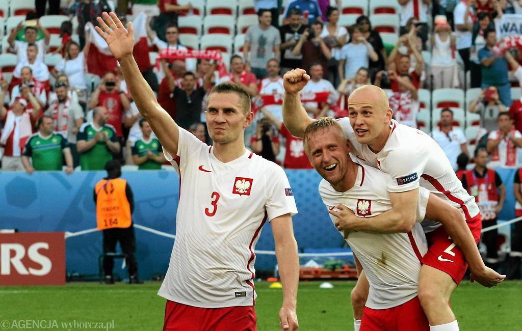 Polska - Irlandia Północna 1:0. Artur Jędrzejczyk, Kamil Glik i Michał Pazdan