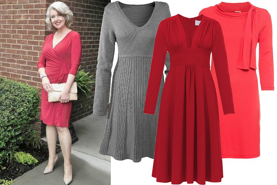 1faad26305 Sukienki z długim rękawem  stylowe modele dla dojrzałych kobiet ...