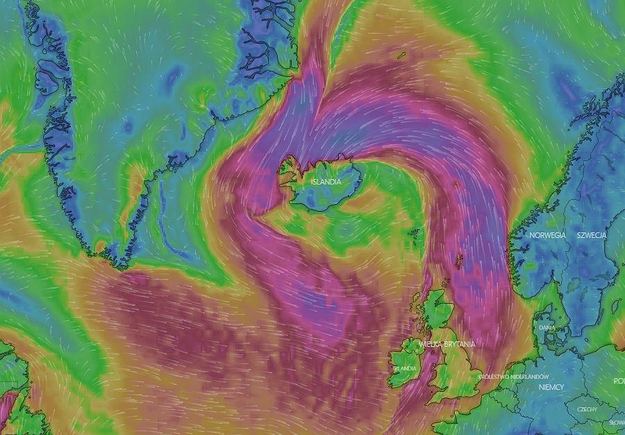 Cyklon nad Islandią