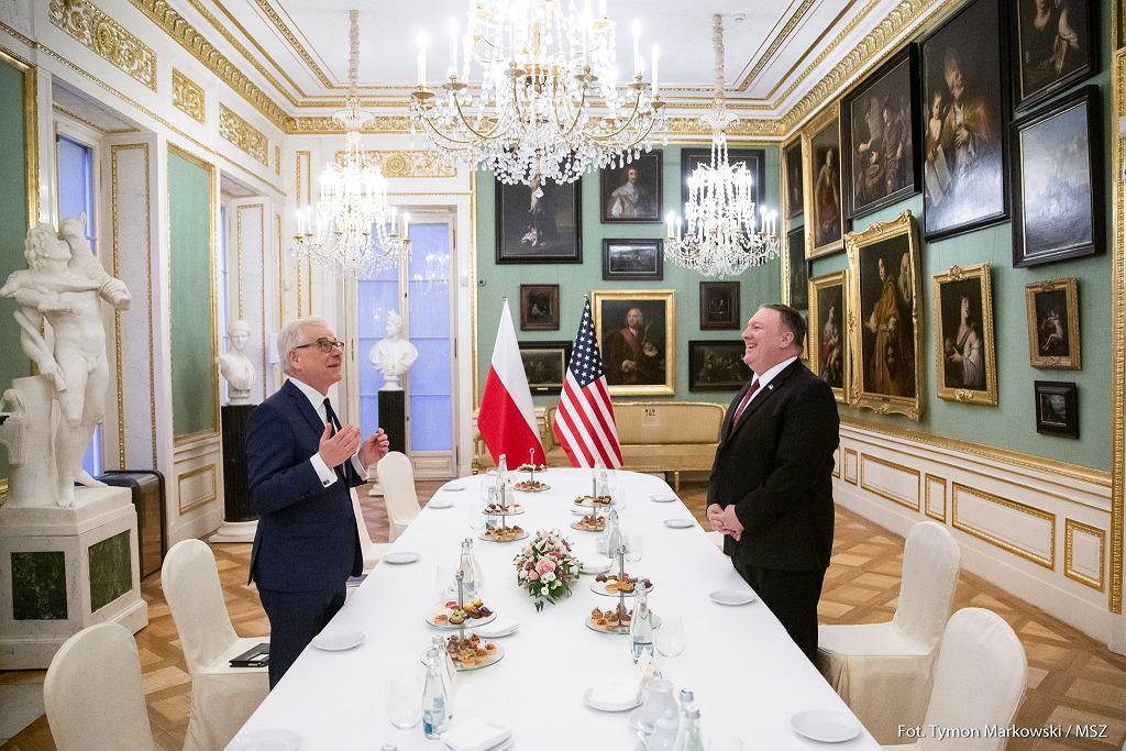 Spotkanie szefa MSZ Jacka Czaputowicza i sekretarza stanu USA Mika Pompeo