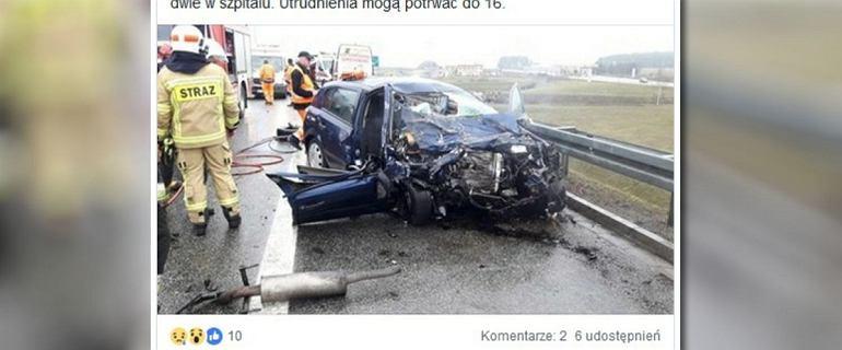 Jechał pod prąd na A1. Zginęła kobieta z pojazdu, który poruszał się prawidłowo