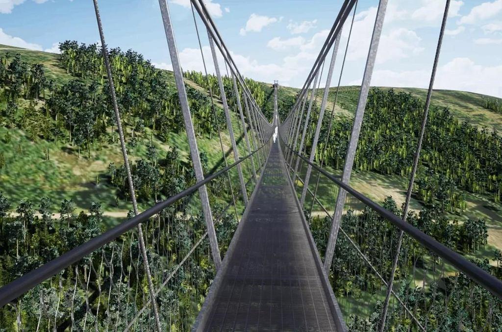 Najdłuższy wiszący most w Europie ma być gotowy na wiosnę przyszłego roku