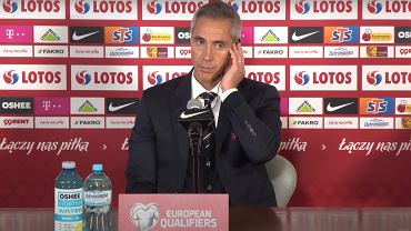 Paulo Sousa na konferencji prasowej po meczu z San Marino
