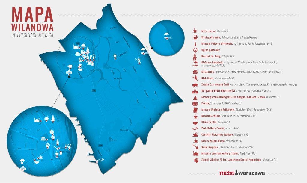 Mapka Wilanów