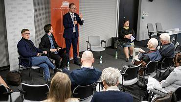 15 marca 2019 r. Rzecznik praw obywatelskich Adam Bodnar podczas spotkania z mieszkańcami Poznania i podpoznańskich miejscowości