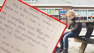 Uczeń napisał list do dyrektorki