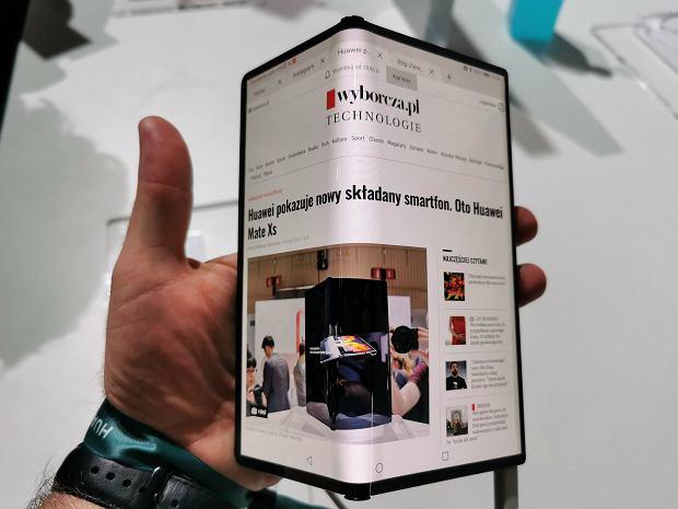 Huawei pokazuje nowy składany smartfon: Huawei Mate Xs. Jego koszty produkcji są wyższe niż cena