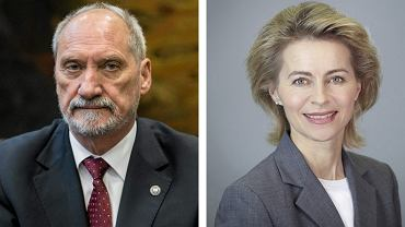 Minister obrony narodowej w rządzie PiS Antoni Macierewicz oraz minister obrony Niemiec Ursula Gertrud von der Leyen