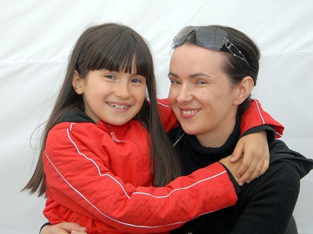 Aleksandra Kowalska z matką Kasią Kowalską