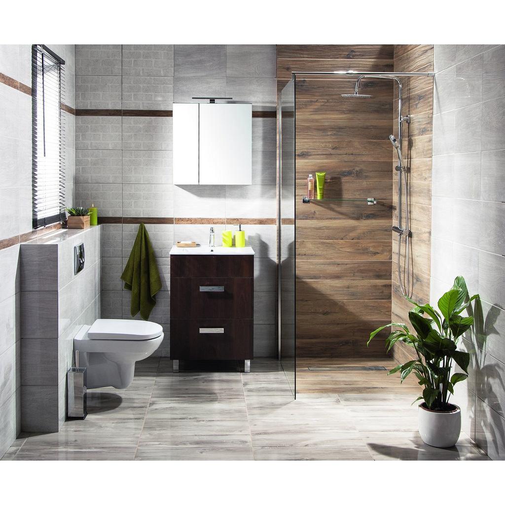 Płytki łazienkowe drewnopodobne