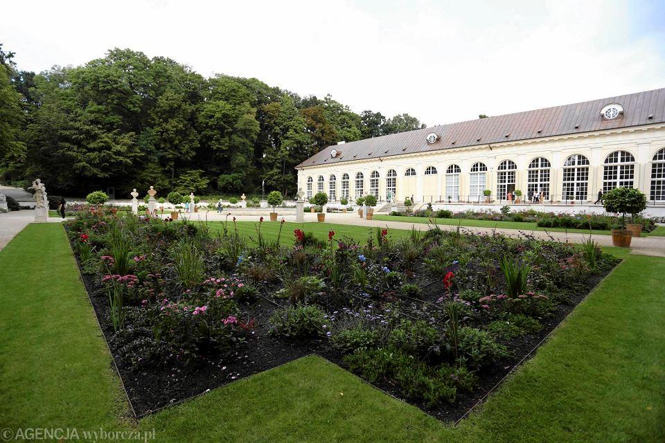 Zamek Królewski łazienki Pałac W Wilanowie W Listopadzie
