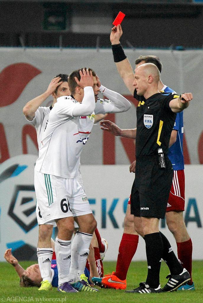 Piast Gliwice - GKS Bełchatów 3:1. Błażej Telichowski ogląda czerwoną kartkę