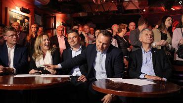 Eurowybory 2019. Wieczór wyborczy Koalicji Europejskiej w Pubie Łódź Kaliska