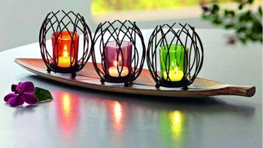 Romantyczne mieszkanie w blasku świec i lampionów