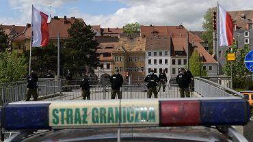 Protest pracowników transgranicznych w Zgorzelcu
