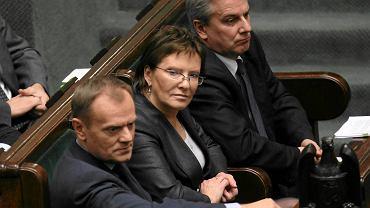 Donald Tusk, Ewa Kopacz i Cezary Grabarczyk