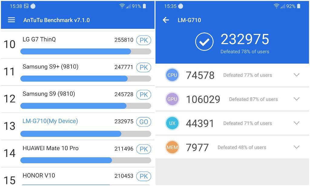 LG G7 ThinQ - AnTuTu Benchmark