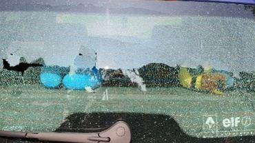Ostrzelane auto