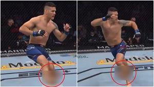 Przerażająca kontuzja na gali UFC 261. Pierwsze kopnięcie [WIDEO]