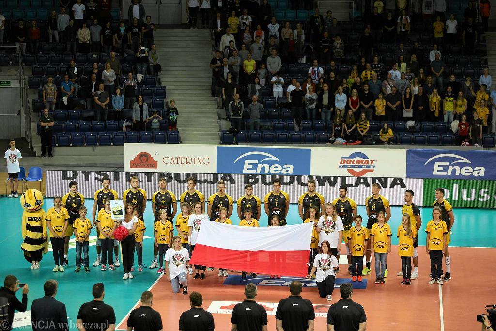 Skra Bełchatów podczas niedawnego turnieju Giganci Siatkówki w Szczecinie