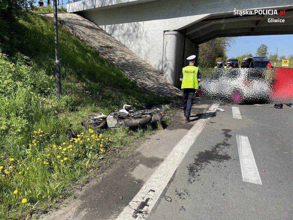 Wypadek na DK-88 w Gliwicach