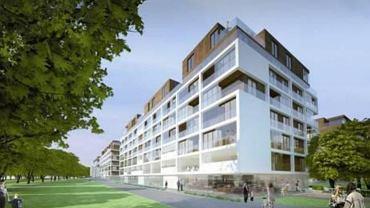Wizualizacja jednego z budynków, które wejdą w skład nowego osiedla firmy Qualia przy Żwirki i Wigury