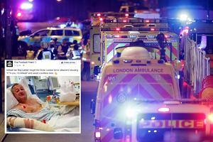 """""""Pi*****cie się, jestem z Millwall."""" Angielski kibic w szpitalu po tym, jak postawił się terrorystom z Londynu"""