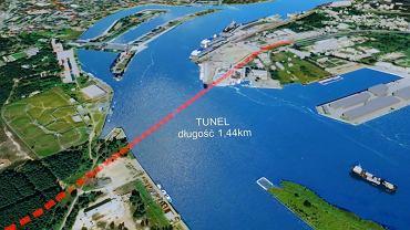 Tunel, który połączy wyspy Wolin i Uznam (wizualizacja)