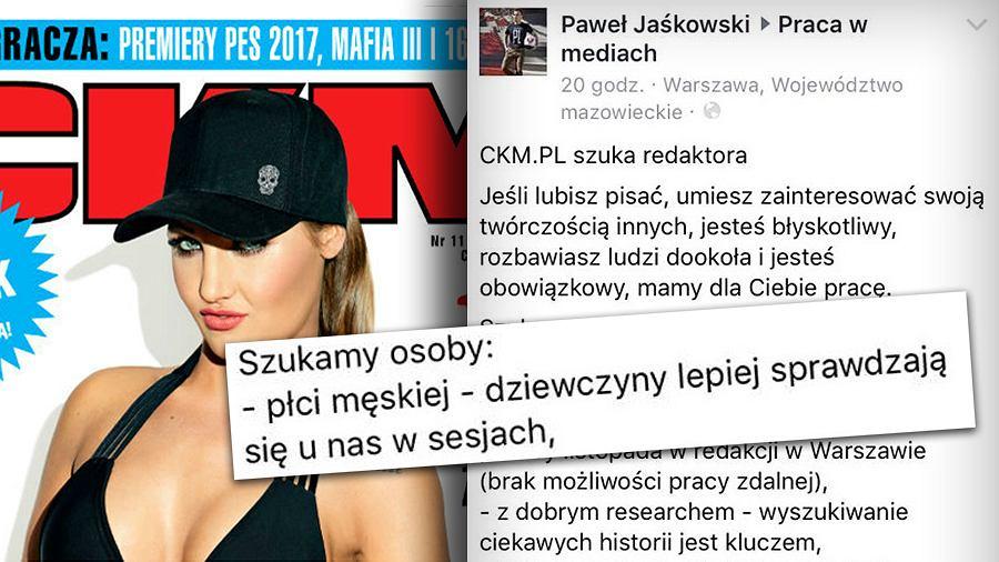 Ogłoszenie portalu CKM.pl