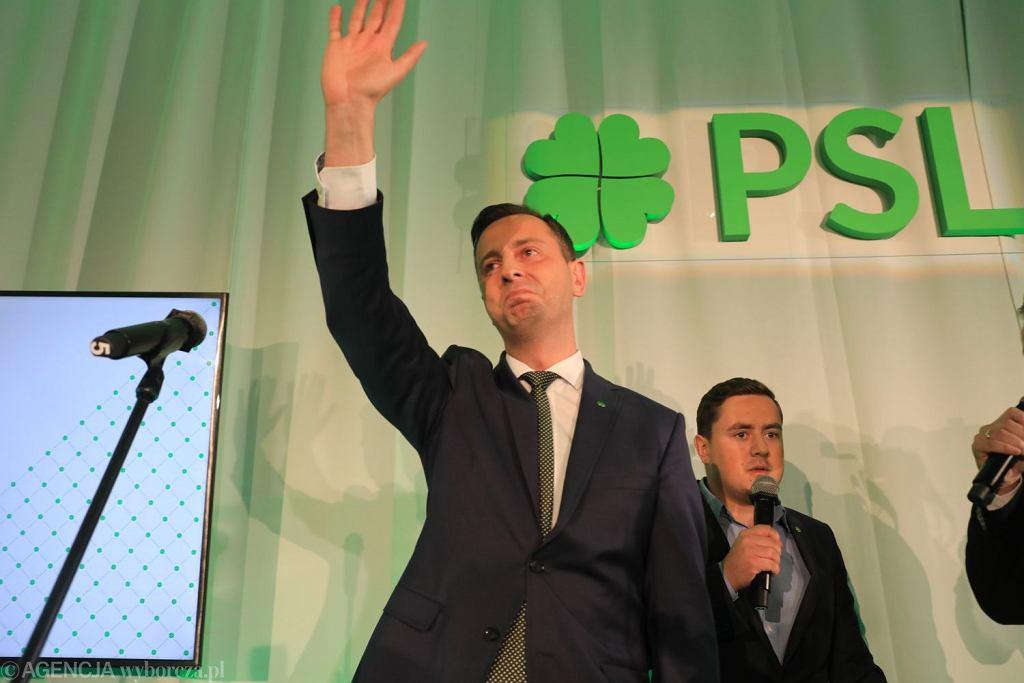 Wybory samorzadowe 2018. Wieczor wyborczy PSL . Siedziba OPZZ przy ulicy Kopernika