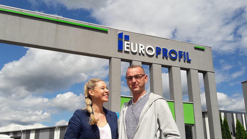 Mariusz Biernat i Aneta Biernat - wiceprezes i prezes spółki Europrofil