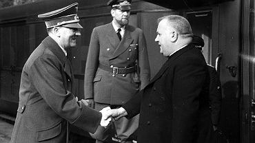 Ksiądz Tiso i Adolf Hitler w 1941 roku