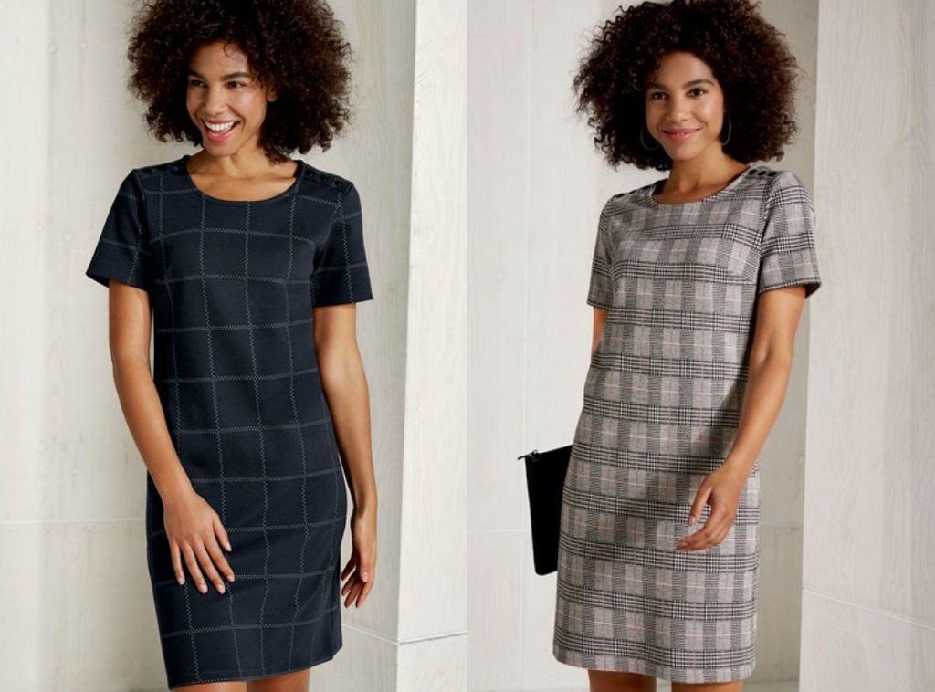 Sukienki w kratę z Lidla