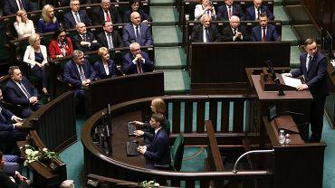 Senator Libicki zakażony koronawirusem. Zgromadzenie Narodowe odbędzie się bez zmian. Na zdjęciu: Andrzej Duda podczas Zgromadzenia Narodowego,  2017 rok (zdjęcie ilustracyjne)