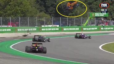 Bolid Peroniego wypadł z toru Monza