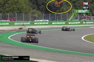 Przerażający wypadek na torze Monza. Samochód przeleciał nad torem [WIDEO]